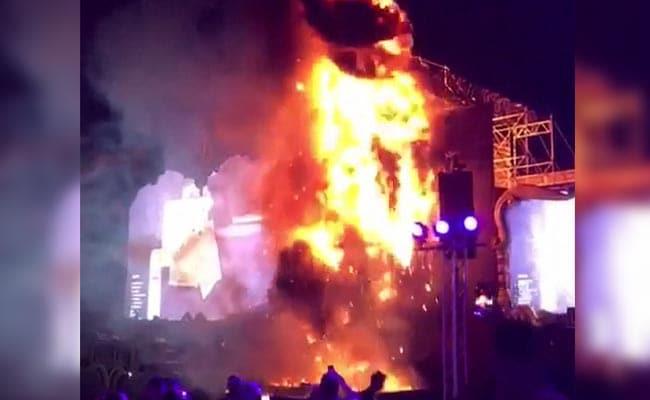 huge fire at spain music festival prompts exodus