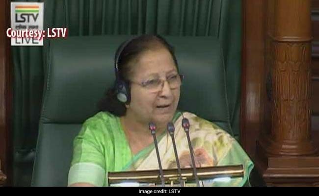 You Can't Discipline Your Children: Speaker Sumitra Mahajan To Protesting Lawmakers