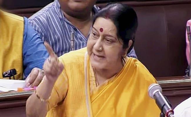 ये हमारी सरकार है, जो ट्रंप सरकार को चुनौती देने का माद्दा रखती है : सुषमा स्वराज