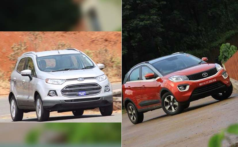 Its The Battle Between The Two Subcompact Suvs The Tata Nexon And The Ford Ecosport