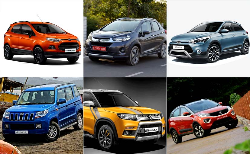 The Tata Nexon competes against the Vitara Brezza, EcoSport, TUV300, WR-V and i20 Active