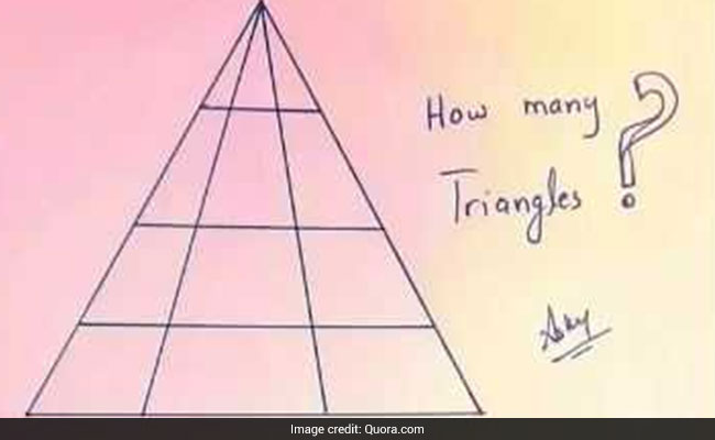 how many triangles do you see this quiz is currently baffling internet