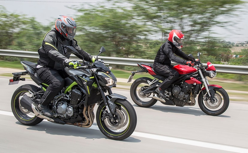 triumph street triple s vs kawasaki z900 comparison review ndtv carandbike. Black Bedroom Furniture Sets. Home Design Ideas