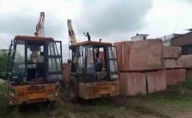 Trucks Carrying Stones From Rajasthan Arrive In Ayodhya For Ram Mandir