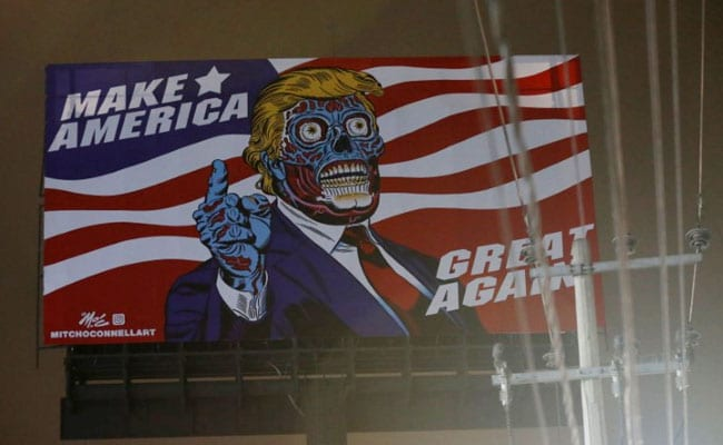 Alien Donald Trump Appears On Mexico City Billboard