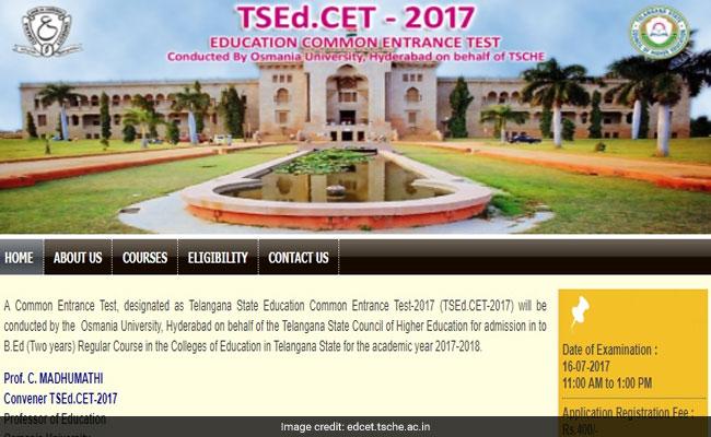 TSEd CET Result 2017, Telangana EdCET Result 2017; check edcet