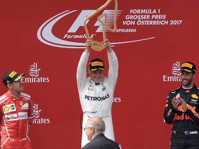 Valtteri Bottas Wins Austrian Grand Prix Ahead Of Sebastian Vettel