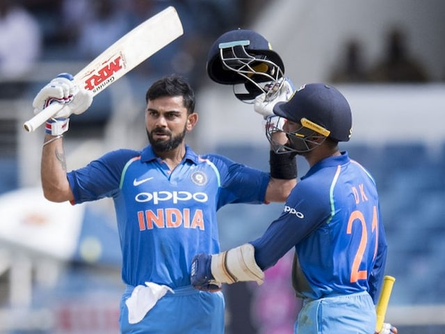 India Vs West Indies: Virat Kohli Celebrated His 28th ODI Hundred In Style, Watch Video