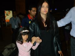 Pics: Aishwarya Rai Bachchan And Aaradhya At Airport. Abhishek Sees Them Off