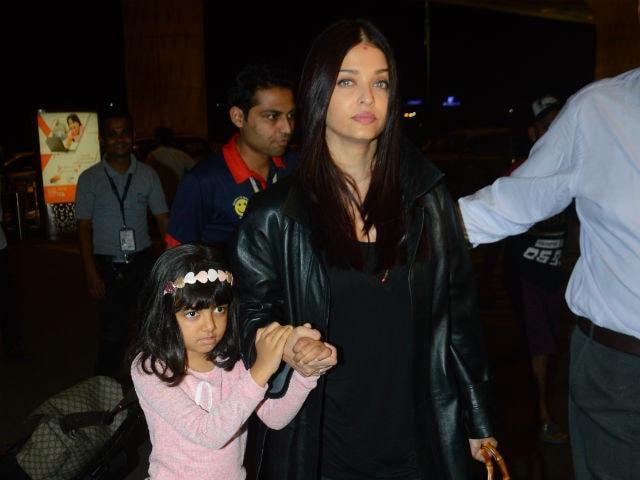 Pics: Aishwarya Rai Bachchan And Aaradhya At Airport. Abhishek Sees Them Off