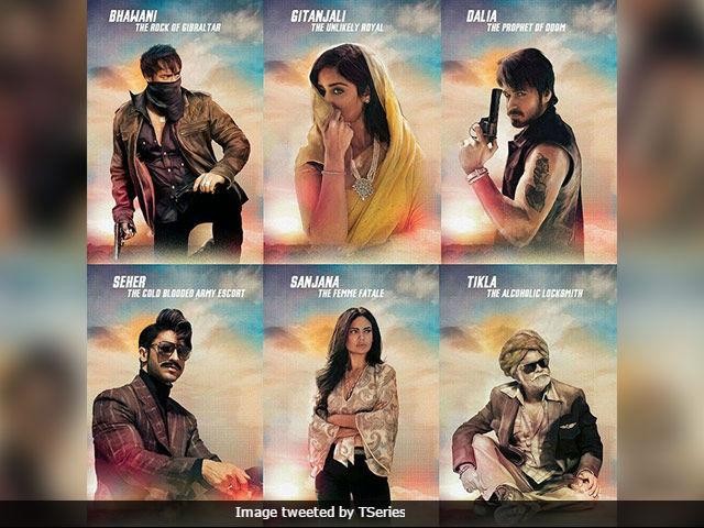 Baadshaho New Posters Highlight Character Traits Of Ajay Devgn, Ileana D'Cruz