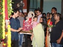 Ganesh Chaturthi 2017: Salman Khan's Sister Arpita And Ahil Celebrate Ganpati <i>Visarjan</i>