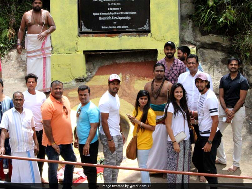 Indian Team Members Visit Place Of Sita