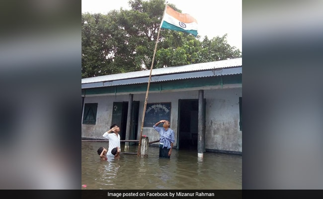 Lakhs Shared Photo Of Flag Hoisting In Assam. This Is Why It Was Taken