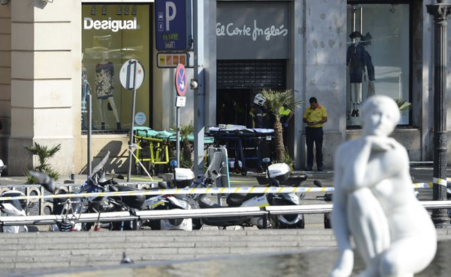 Video Shows Panic As People Use Shop To Escape Barcelona Attack