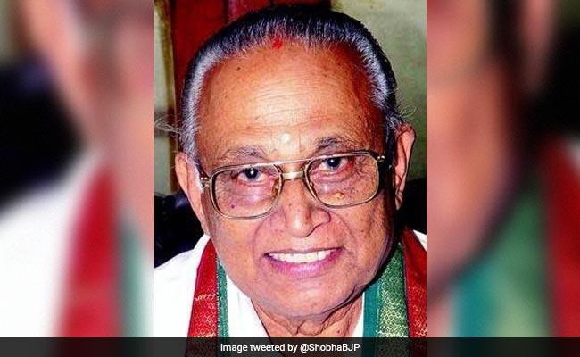Senior BJP Leader BB Shivappa Dies