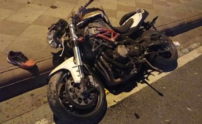 benelli tnt 600i accident delhi 650