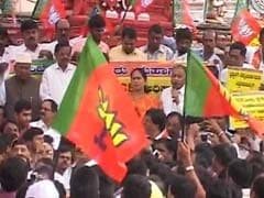 Cases Against BS Yeddyurappa 'Political Vendetta': BJP At Protest Rally