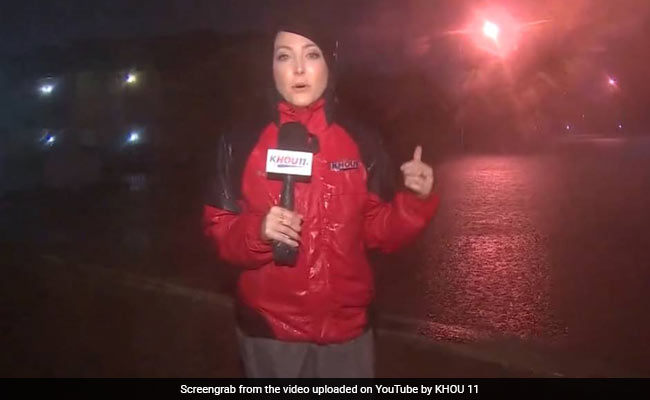 As A Houston TV Station Flooded, One Reporter Kept Broadcasting