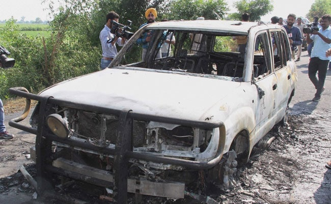 Car Torched Near Sirsa After Dera Chief Ram Rahim Singh Sentenced To 20 Years