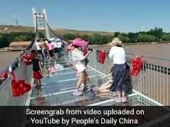 Walking On Water? Glass Bridge Hangs Above River In China. Watch Video