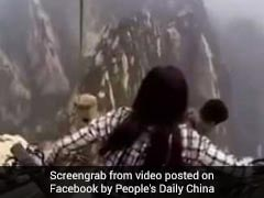 Watch: Tourists Climb Down Steep Mountain. Video Is Truly Terrifying