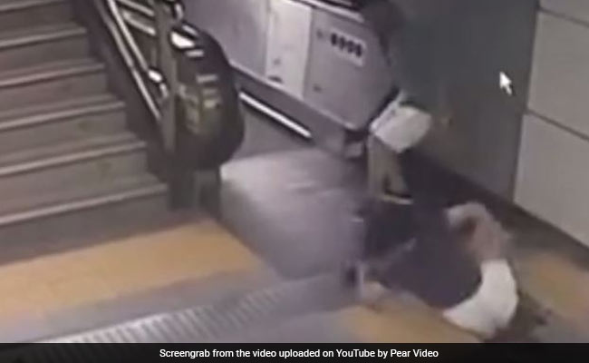 Watch: Woman Walks Over Rickety Floor, Gets Sucked In