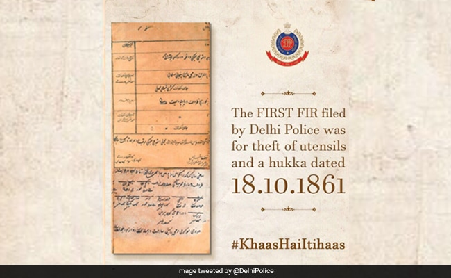 #TBT: Delhi Police Delights Twitter With Throwback Pic Of First FIR Filed