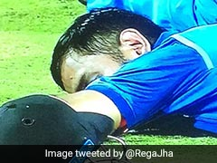 India vs Sri Lanka: MS Dhoni Sleeps On The Field As Crowd Trouble Stops Match. Twitter Loves It