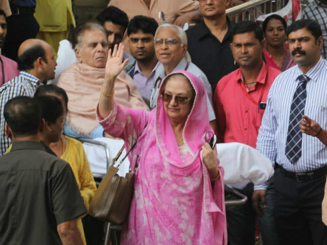 Dilip Kumar leaves Mumbai hospital, accompanied by wife Saira Banu