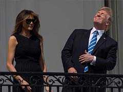 Trump Celebrates Solar Eclipse By Looking Up Without Viewing Glasses