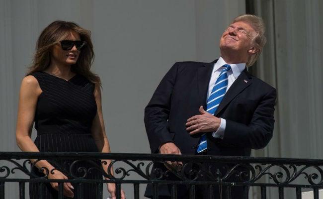 donald trump melania trump solar eclipse twitter