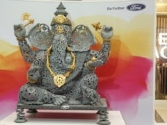 Ganesh Chaturthi 2017: Ford India Installs A 6.5 Feet Ganesha Idol Made Out Of Auto Spare Parts