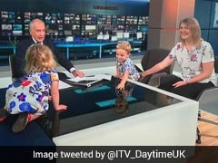 Watch: Anchor Upstaged By Toddler On Live TV