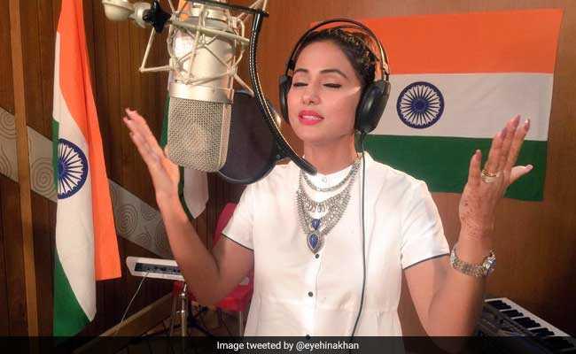 I'Day पर 'टीवी की बहू' हिना खान ने क्या गाया ऐसा कि वीडियो हो गया Viral