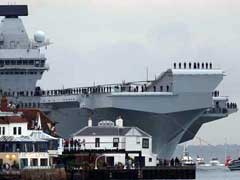 UK's Biggest Warship HMS Queen Elizabeth Sails Into Home Port For First Time