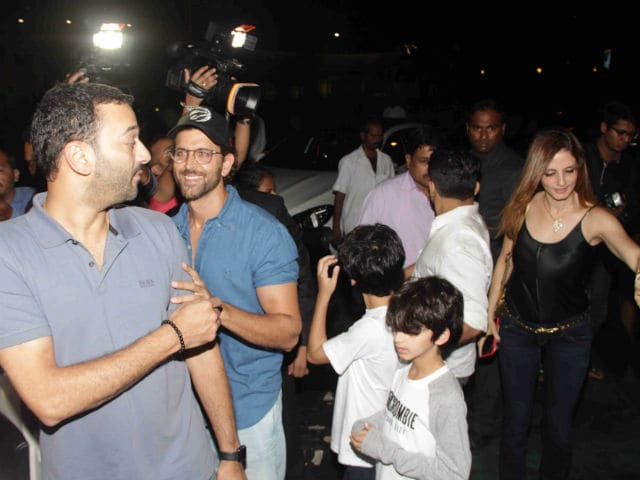 Hrithik Roshan And Ex-Wife Sussanne Khan Spotted On A Dinner Date With Sons