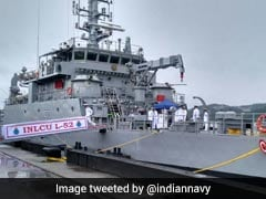 Navy Inducts Landing Craft Utility Ship, Capable Of Transporting Battle Tanks