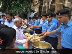 Navy Serves Fresh Meal To Rain-Battered Mumbaikars