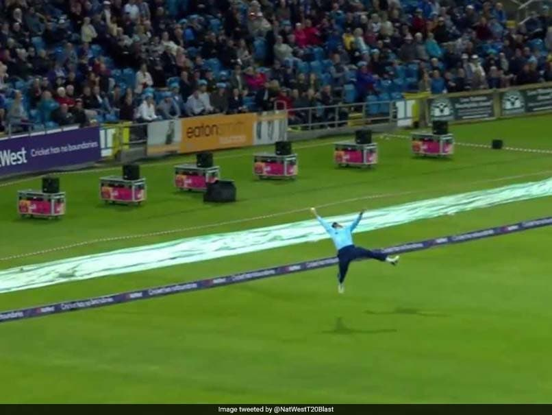 Yorkshire's Jack Leaning Pulls Off Stunning One-Hand Catch In NatWest Blast