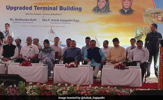 New Airport Terminal Inaugurated In Jammu By Mehbooba Mufti, Ashok Gajapati Raju