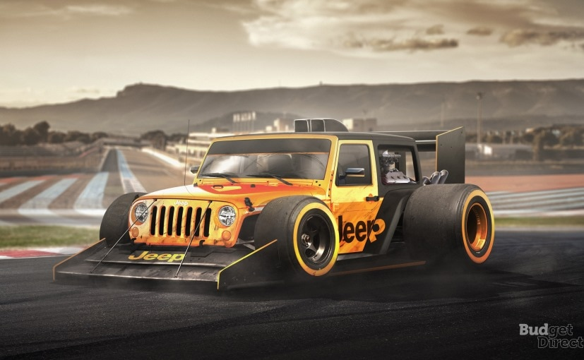 jeep wrangler f1 car
