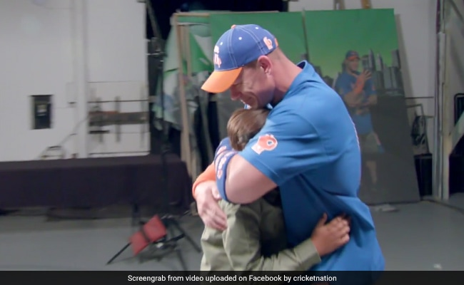 WWE's John Cena receives awesome surprise from some of his biggest fans