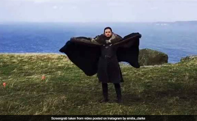Watch: Jon Snow Pretends To Be A Dragon And Khaleesi Can't Stop Laughing