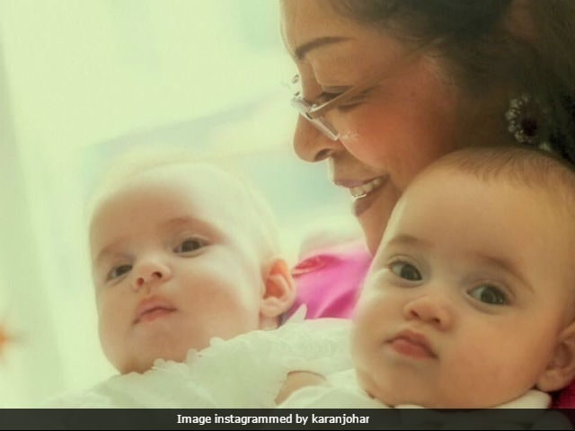Karan Johar shares first picture of twins Roohi and Yash