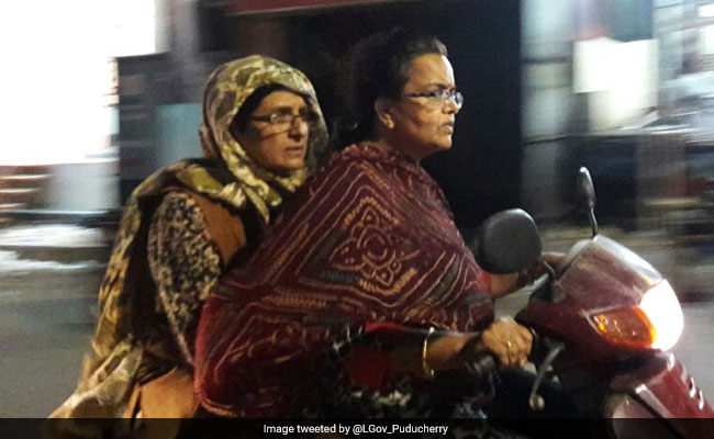 For Lieutenant Governor Kiran Bedi's Midnight Ride In Puducherry Twitter Writes Her A Ticket