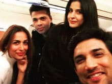 When Malaika Arora, Karan Johar And Sushant Singh Rajput Travel Together, <i>Ek Selfie Toh Banti Hai</i>