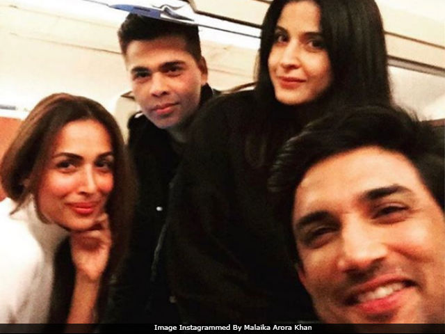 When Malaika Arora, Karan Johar And Sushant Singh Rajput Travel Together, Ek Selfie Toh Banti Hai