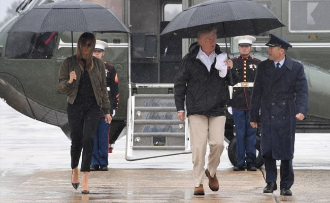 Donald Trump Visits Texas Disaster Zone Before Harvey Return