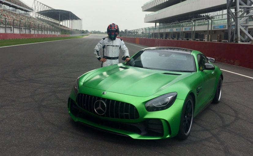 mercedes amg gt r breaks bic lap record